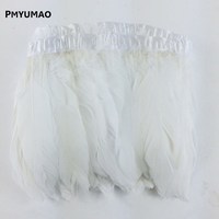 Wholesale WHITE Feather Trimming Ribbon Used As A Christmas Decoration Scene Goose Plume Clothing Design Free