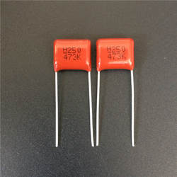 10 шт CBB конденсатор 473 250 V 473 K 0,047 мкФ 47nF P10 CBB21 из метализированной полипропиленовой пленки конденсатор