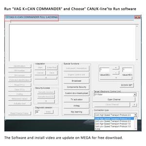 Image 3 - VAG K puede comandante 1,4 K + puede FTDI PIC18F25K80 OBD2 odómetro, herramienta de corrección OBD VAG interfaz de diagnóstico de coche K line para VW/AUDI