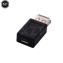 USB A Female to Micro usb Female jack Connector extand adapter RICH TECH professional Connector(China)