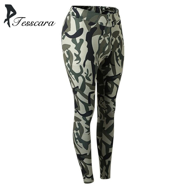 Women Skinny Casual Pencil Pants Female Camo Joggers Riding Fitness Bottom  Lady Comfortable Outwear Cheap Camouflage Trousers d2732464a9432