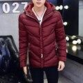 Capa de los hombres 2016 de invierno de Corea Slim Down acolchada con capucha tendencia adolescentes más código de tamaño M-3XL de La Venta Caliente