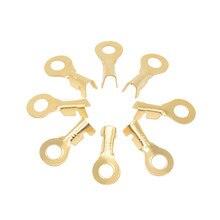100 ピース/ロット、、 4.2 ミリメートル径銅円形スプライス端子ワイヤー裸用 0.3-1.5mm2 ワイヤー、厚さ 0.4 ミリメートル