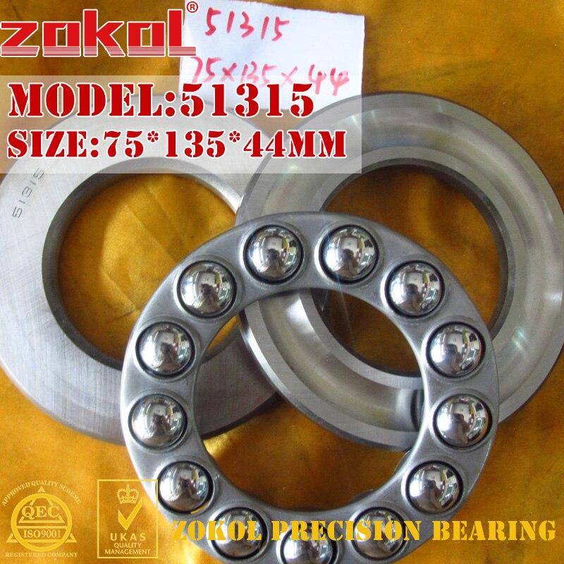ZOKOL bearing 51315 Thrust Ball Bearing  8315 75*135*44mm zokol bearing 51134m thrust ball bearing 8134h 170 215 34mm
