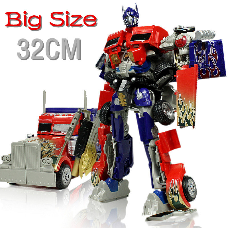 2015 New Arrive 41CM Original Box L Size Transformation Toys Kids Robot Autobots Car Anime Action Figure Class Toy Children Gift leader class soundwave variable base big size classic toys for boys children action figure without retail box