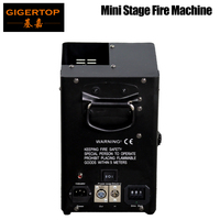 Gigertop TP T159 Stage Mini Fire Machine DMX/Power Control 3 Pin XLR DMX IN/OUT Socket Address Dips Switch 2 Handle 110V/220V