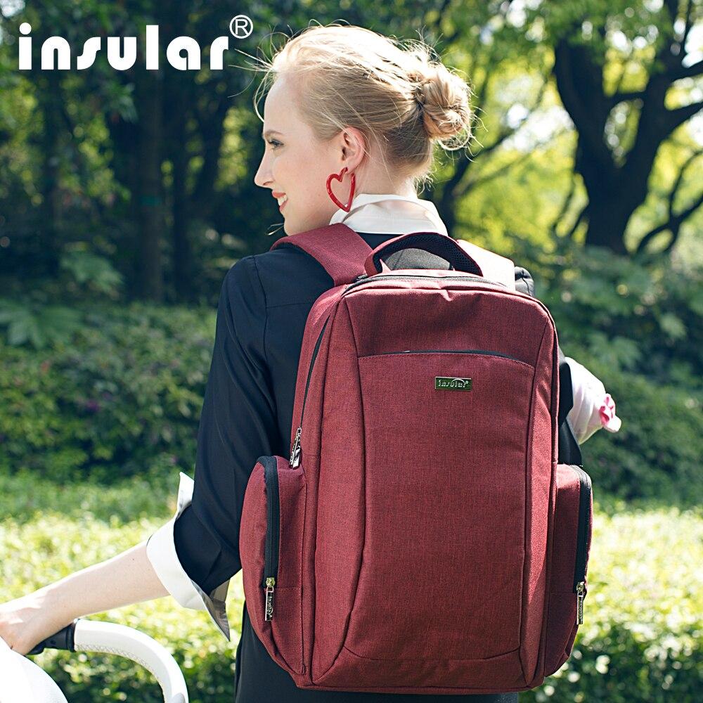 Marca Insular bolso de pañales de bebé maternidad mochila estilo de - Pañales y entrenamiento para ir al baño - foto 3