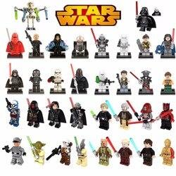 Única venda legoing estrela blocos de construção guerras luke leia han solo anakin darth vader yoda jar brinquedos legoings figuras bk30