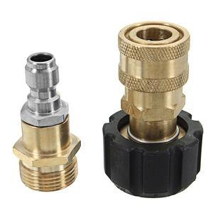 Image 1 - Tête de connecteur à connexion rapide, buse filetée M22 pour mousse, lave linge à haute pression