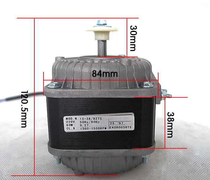 Refrigeration parts fridge fan motor shade pole motor 220Voltage 90WRefrigeration parts fridge fan motor shade pole motor 220Voltage 90W