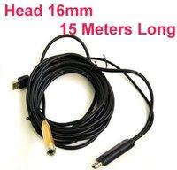 15 Meters Length 15mm Diameter Waterproof USB Endoscope Camera High Resolution With 1 6 CMOS Camera