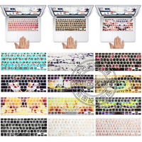 English Keyboard US Layout Silicone Protection Sticker Skin Pattern For 13 15 17 Mac Macbook Air