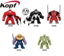 Single Sale Bricks Super Heroes Venom Hulkpool Thanos Hulk Action Figures Building Blocks Chirstmas Gift Toys For Kids KF6055