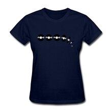 Vinyl Record stack women's shirt / girlie