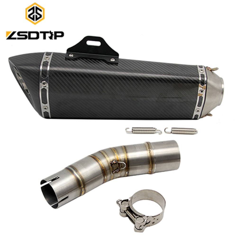 ZSDTRP <font><b>GSX250R</b></font> racing motor modified really carbon fibre <font><b>exhaust</b></font> muffler adjustable pressure case for <font><b>suzuki</b></font> gsxr650 image