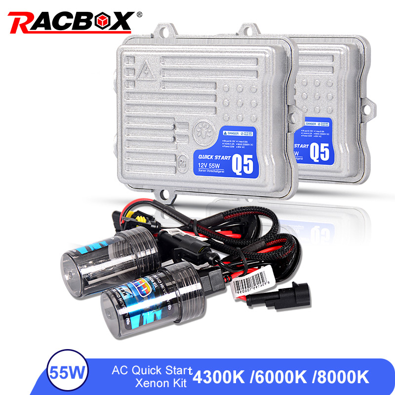 AC 55W Fast Start Ballast HID Bulb Car Xenon Headlight Retrofit Conversion Kit H1 H3 H7 H11 9005 HB3 9006 HB4 6000K 4300K 8000KAC 55W Fast Start Ballast HID Bulb Car Xenon Headlight Retrofit Conversion Kit H1 H3 H7 H11 9005 HB3 9006 HB4 6000K 4300K 8000K