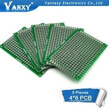 5 шт. 4x6 см 4*6 двухсторонний Прототип PCB diy универсальная печатная плата
