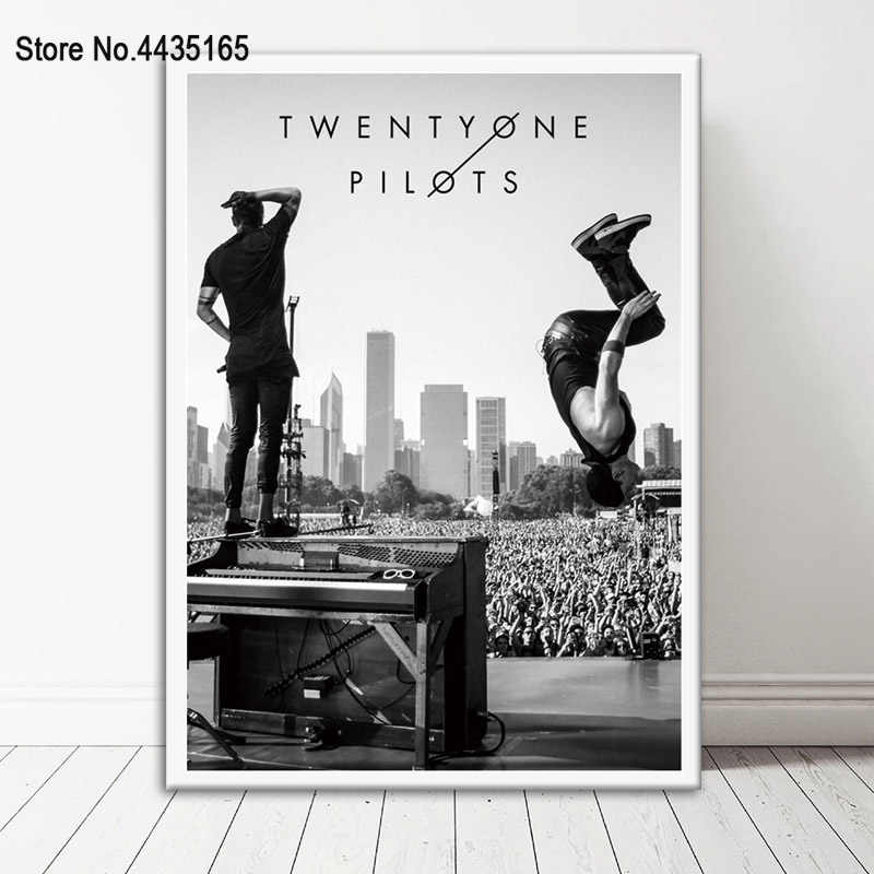 Poster Twenty One Pilots Music Band Posters and Prints Canvas Painting Wall Art Picture For Room Home Decor