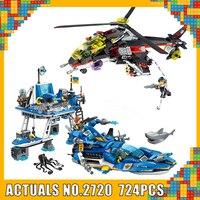 Enlighten 2720 High Tech Harbour fighter Ship Cruiser Building Blocks Bricks Classic Model Kids Toys Compatible with Legoings