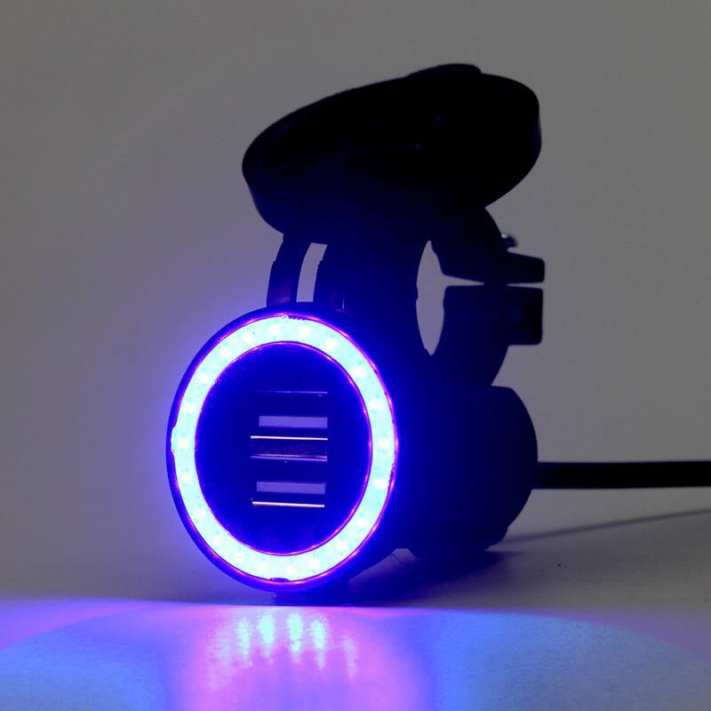 5V 1A 2 1A Usb Car Moto Charging Units Waterproof Adapter LED Light Cargador Coche Mobile Phone Chargeur Usb Voiture USB Socket