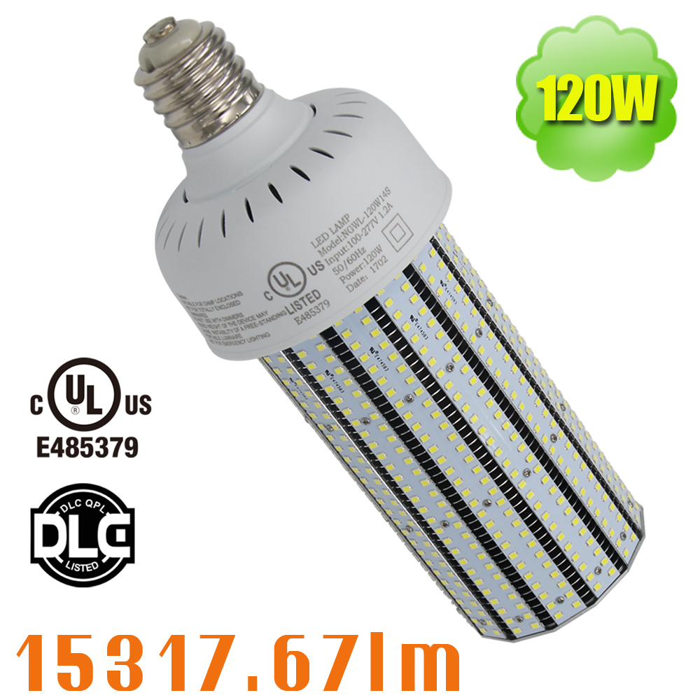 Ul Dlc 120 Watt Led Parking Lot Lights E39 E40 Corn Cob