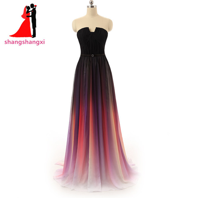 Real Picture Elegant Cheap Long Evening Dresses Plus Size Formal For