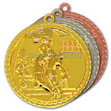 Top sell factory price custom Basketball metal medal sport  Gold,Silver and Bronze FH810031