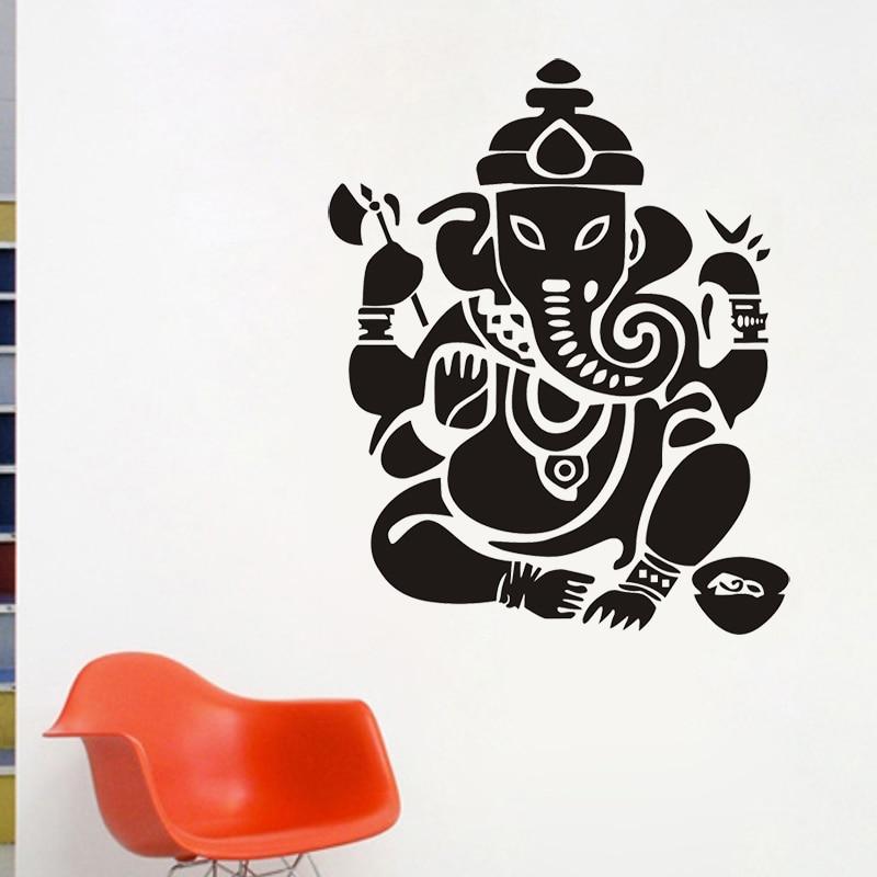 JJRUI Buddhisme India Ganesha Lord Veggklistremerker Yoga Buddha - Hjemmedekorasjon - Bilde 2