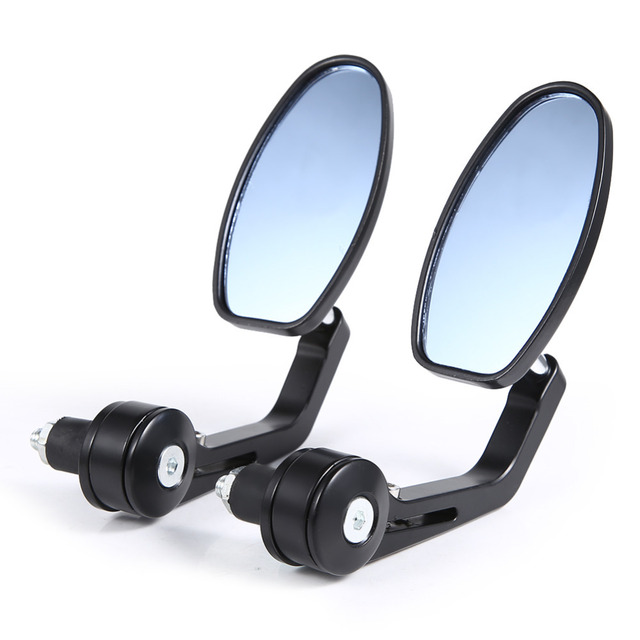 "Flexible Motorcycle Rear View Back Mirror Handle Bar End 7/8"" Mirror Oval Rear View Mirror"