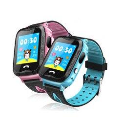 Czyszczenie magazynu wyprzedaż dzieci smartwatch GPS wodoodporny z latarką Sos ekran dotykowy Anti-lost Monitor Tracker zegarek Gps dla dzieci