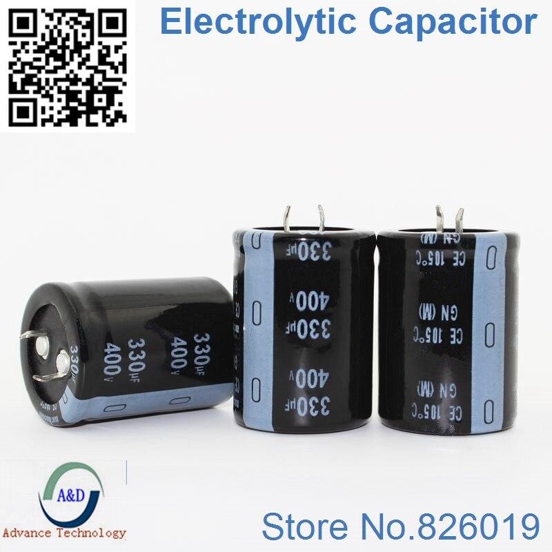 5pcs/lot 400v 330uf Radial DIP Aluminum Electrolytic Capacitors Size 30*40 330uf 400v Tolerance 20%