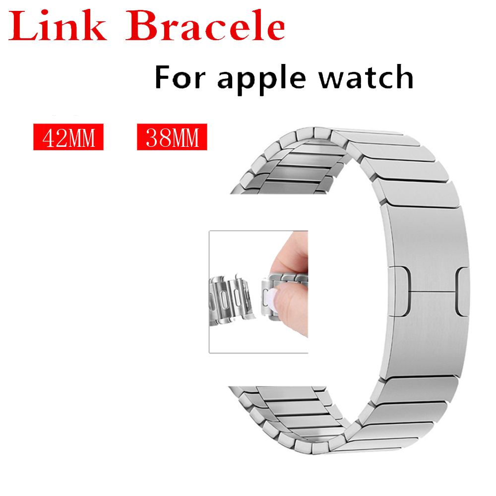 все цены на Luxury Link bracelet for apple watch band strap 42mm 38mm stainless steel metal bracelet removeable watchband for iwatch 3/2/1 онлайн