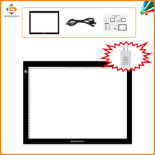 New GAOMON GB4 LED Light Box 5MM Ultrathin Light Pad USB Art Tracing Board for Sketch and Copy with US Adapter