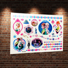Creative Ice Queen Princess Elsa Anna Temporary Tattoo Sticker Child Fake Tatoo Body Art Cartoon Waterproof Tattoo