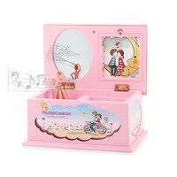 MINOCOOL Caso Caixa de Jóias Da Música Dos Desenhos Animados Brinquedo Das Crianças com um girando Meninas Boneca de Presente de Aniversário de Natal Toy Som Do Vento Para Cima brinquedo