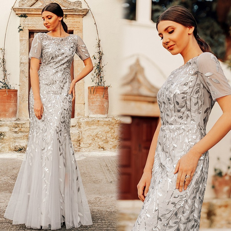 9115dd1987acc [HOT DEAL] US $42.84 for Plus Size Elegant Evening Dresses Saudi Arabia Ever  Pretty Mermaid Sequined Lace Appliques Mermaid Long Dress 2019 Party Gowns