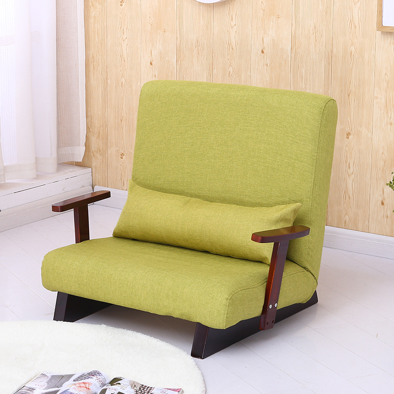 Floor Foldable Sofa Armchair Reclining Modern Fabric Japanese Sofa Furniture Lounge Recliner Living Room Occasional Accent Chair
