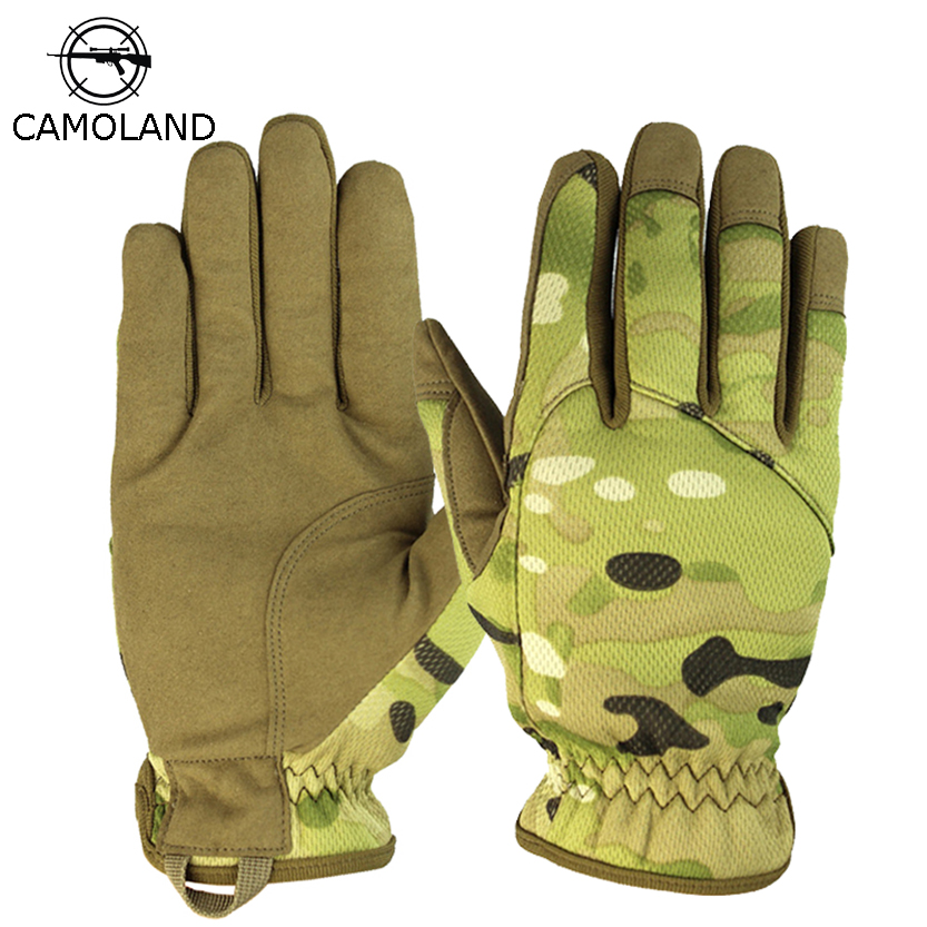 CAMOLAND NEW Men Gloves Tactical Military Combat Gloves Outdoor Sports Full Finger Bicycle Mittens Paintball Airsoft Male Gloves