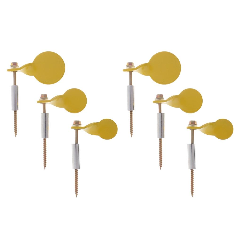 6 Pieces Metal Spinner Target Plinking Target Shooting Target Accessories Dia. 2.5cm 3cm 4cm