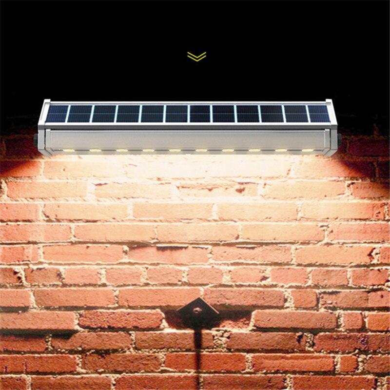 Движения сенсор светодио дный Солнечный Уличный настенный светильник рекламный прожектор свет супер яркий сад открытый лампы экономии энергии Гирлянда Декор