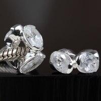 925 joyería de plata esterlina que hace fuentes grandes del agujero granos de circón europeo moda mujeres encantos cupieron las pulseras Pandora