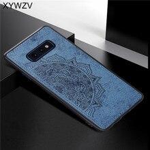 Do Samsung Galaxy S10 Lite etui z miękkiego TPU tkanina silikonowa tekstura twardy PC etui na telefon Samsung S10 Lite pokrywa do Samsung S10e