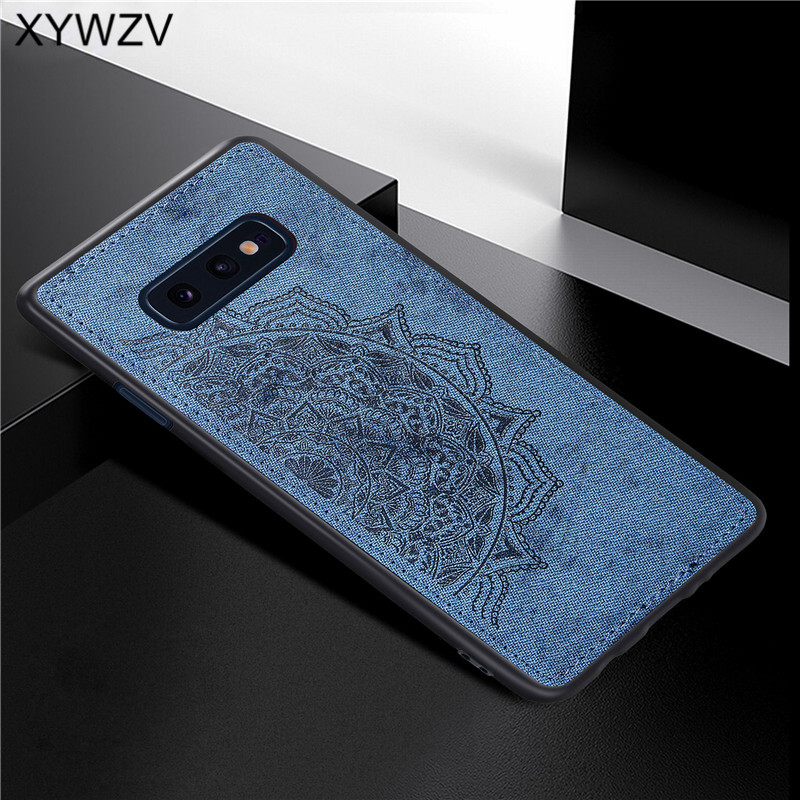 For Samsung Galaxy S10 Lite Case Soft TPU Silicone Cloth Texture Hard PC Phone Case For Samsung S10 Lite Cover For Samsung S10e-in Fitted Cases from Cellphones & Telecommunications