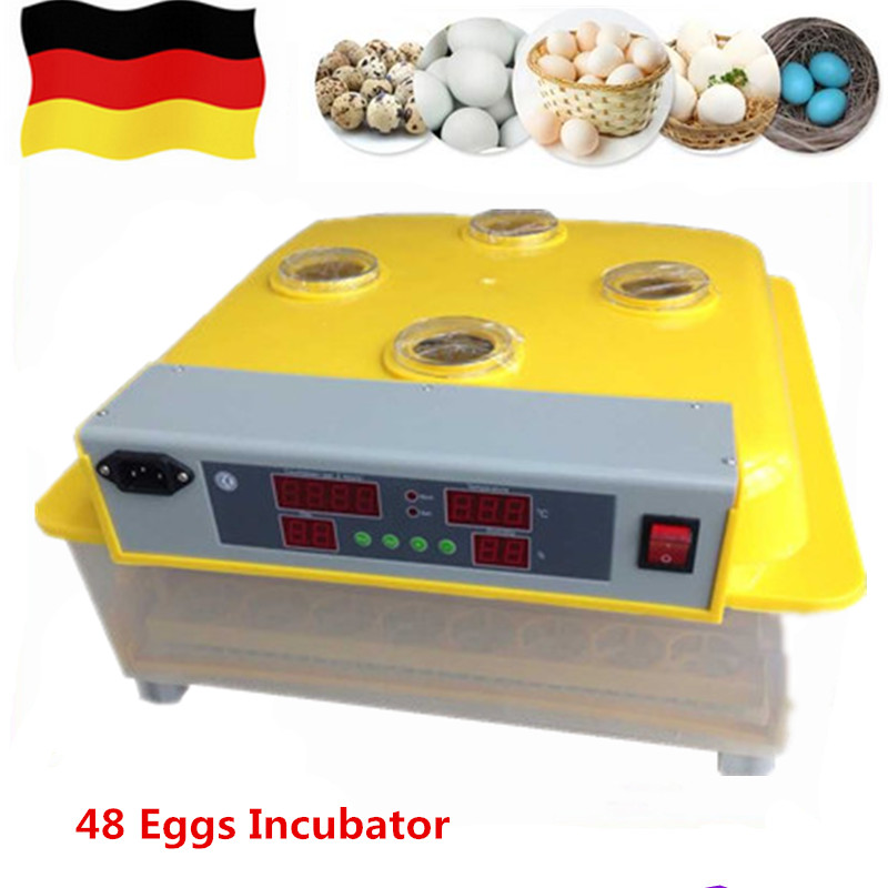 Automatic 48 Eggs Incubator Farm Home Use Digital Electric Setter Hatcher Poultry Hatching Machine Equipment Brooder home hatchery eggs incubator automatic brooder poultry machines hatching eggs