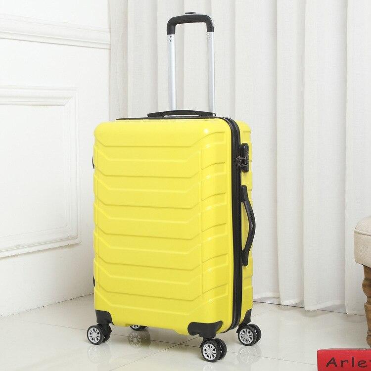 Trolley Hohe Kapazität Aluminium Rahmen Kreative Rollen Gepäck Spinner Koffer Räder Bunte Tragen auf Trolley Reisetasche - 3