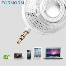 Mini altoparlante portatile bianco/nero 3.5mm Aux altoparlante ricaricabile Smartphone altoparlante per iPhone iPad Samsung ecc