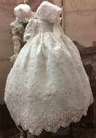 Белого цвета и цвета слоновой кости для маленьких девочек Крещение платье Детское платье для дня рождения для девочек благословение Крещен