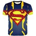 Подросток 3D супермен футболки европейский летний паук капитан америка большие мальчики вершины короткий рукав дети Clothings tyh-55686
