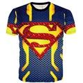 Adolescente Superman 3D T - camisas europeia verão homem aranha capitão américa meninos grandes Tops de manga curta crianças Clothings tyh-55686