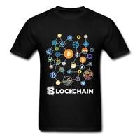 Blockchain Cryptocurrency Bitcoin Ripple Peercoin Qura Factom T Shirt Men 100 Cotton Peercoin Monero Litecoin Ethereum